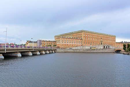 king carl xvi gustaf: View of Stockholm Royal Palace in Gamla Stan, Sweden