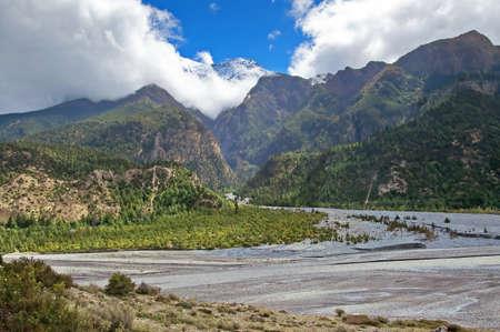 kali: Kali Gandaki Gorge, Annapurna conservation area, Nepal. Annapurna cirkut trek. The most beautiful trekking on the Himalaya mountains Stock Photo