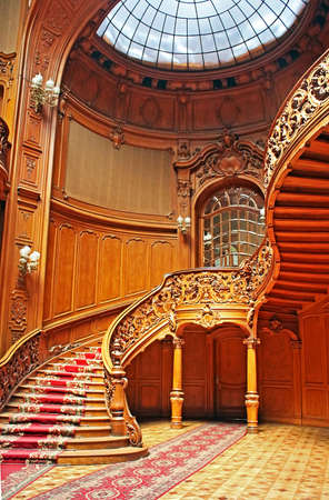 former years: House of Scientists - a former national casino (until 1939) built by Fellner and Helmer in the years 1897-1898, Lviv, Ukraine
