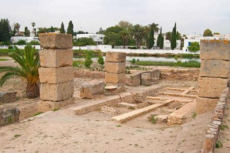 pius: Ruins of military port in Carthage, Tunisia Stock Photo