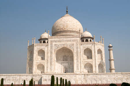 love dome: White marble Taj Mahal in India, Agra