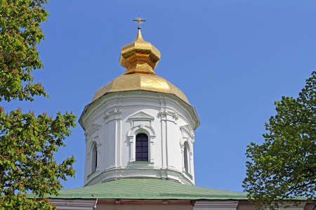dome type: Domes of St. Michael Cathedral of Vydubychi Monastery, Kyiv, Ukraine. The cathedral was built in the years 1070-1088 Vsevolod Yaroslavich, the son of Yaroslav the Wise.