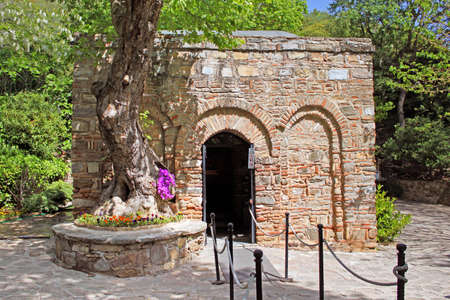 The House of the Virgin Mary (Meryemana), believed to be the last residence of Mary, mother of Jesus. Ephesus, Turkey Imagens