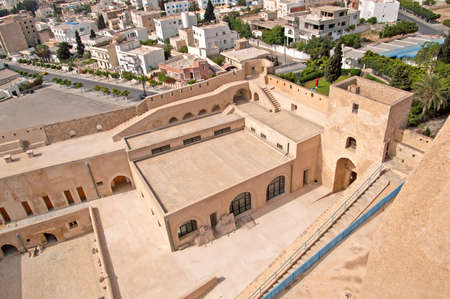 mediaval: Inside mediaval fortress that nowadays serves as the archaeological museum of Sousse, Tunisia Editorial