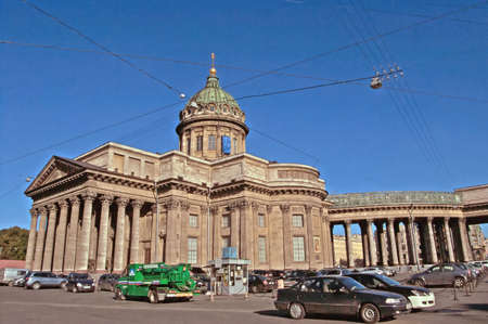 kazanskiy: Kazan Cathedral on Nevsky Prospekt in St. Petersburg, Russia. Kazan Cathedral or Kazanskiy Kafedralniy Sobor, also known as the Cathedral of Our Lady of Kazan, is a cathedral of the Russian Orthodox Church on the Nevsky Prospekt in Saint Petersburg. It is