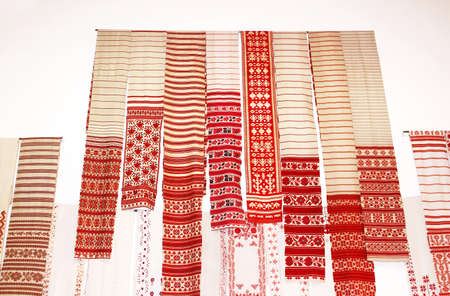 ukrainian ethnicity: 5 Feb.- 1 March 2015 at cultural complex Art Arsenal held inter-museum art project Windows. National ritual cloths embroidered with symbols and cryptograms (rushnyk) from all part of Ukraine were exhibited. Editorial