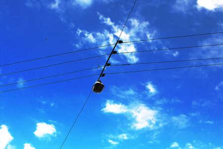 lviv: Wires and lantern in Lviv, Ukraine