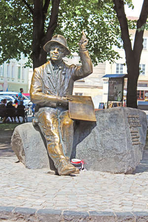 primitivism: Monument of naive painter Nikifor Epifaniusz Drowniak. The monument by sculptor Sergey Oleshko was unveiled in 2006 to commemorate the 111th anniversary of painter Editorial