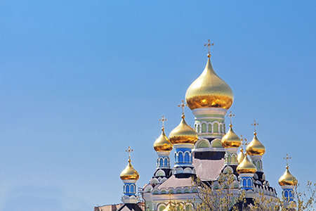 st nicholas cathedral: St. Nicholas Cathedral in Pokrovsky Monastery in Kyiv, Ukraine Stock Photo