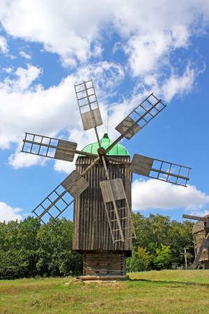 Windmill in the village, Pirogovo, Ukraine