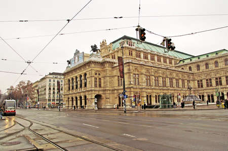 Building of Vienna State Opera House. Wiener Staatsoper produces 50-70 operas and ballets in about 300 performance per year.