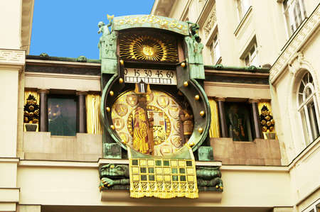 Ankeruhr (Anker clock), famous astronomical clock in Vienna (Austria) built by Franz von Matsch