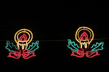 New Year illumination on the street
