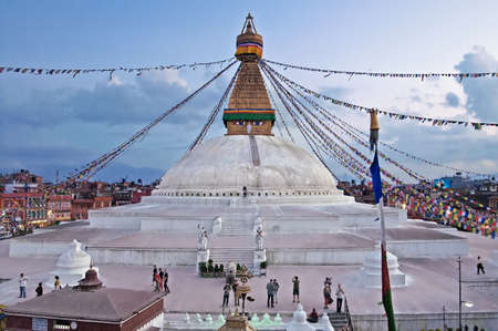 The Boudhanath stupa is the holiest Buddhist landmark in Nepal and UNESCO site since 1979