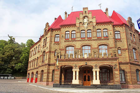 ministry: Old Town of Lviv, Ukraine. Main Department Ministry of Emergencies (fire station) Editorial