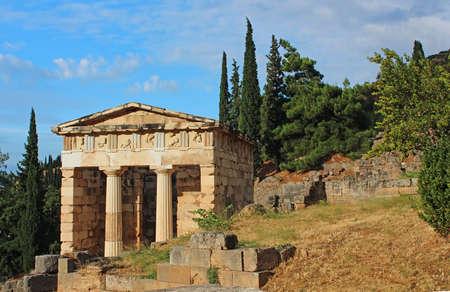 delphi: Ruins of the ancient city Delphi, Greece