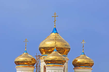 religion catolica: Domes of Cyril and Methodius Cathedral in Khust, Ukraine