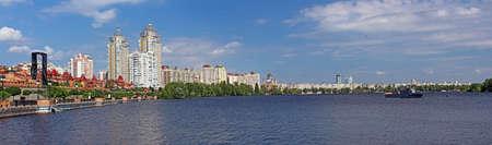 Obolon embankment in the spring, Kyiv, Ukraine