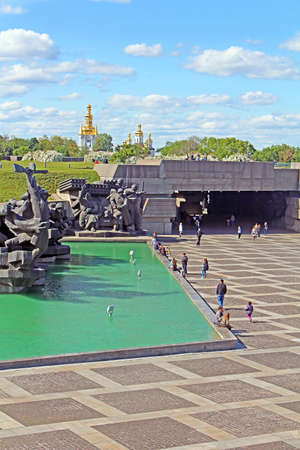 Soviet era WW2 memorial at The Ukrainian State Museum of the Great Patriotic War, Kyiv, Ukraine