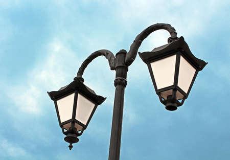 Lantern over blue sky Stock Photo