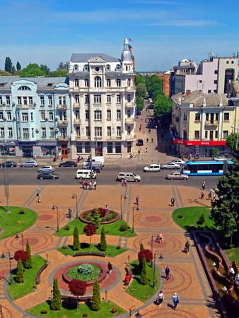 hotel building: View of Soborna square and former hotel Savoy (1912), now it is the hotel Ukraine, Vinnytsia, Ukraine