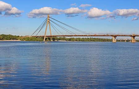 former: Fux bridge (former Moskovskyi Bridge) in Kyiv, Ukraine