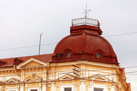 Roof of old building in Chernivtsi, Ukraine