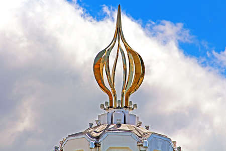 Top part of monument (as a flame of candle) to the millions of victims of the Great Famine in 1932-1933 , Kiev, Ukraine
