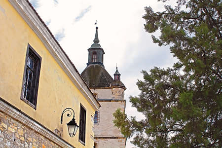 Bell Tower of the Armenian church in Kamianets-Podilskyi, Western Ukraine