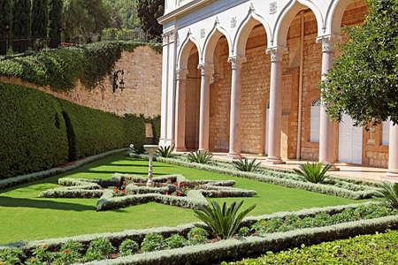 Bahai gardens in Acre (Akko), Haifa, Israel Stock Photo