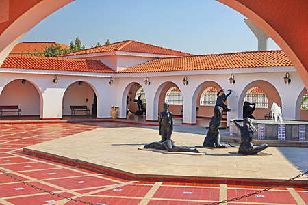 Inside yard of Ralli museum for classical art, Caesarea, Israel. Ralli Museums own the most important collection in the world of contemporary Latin-American art by living artists Editorial