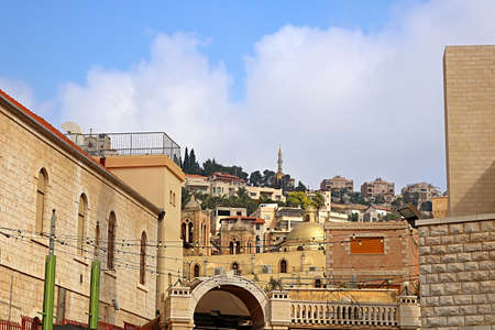 Nazareth city rooftop view, Israel