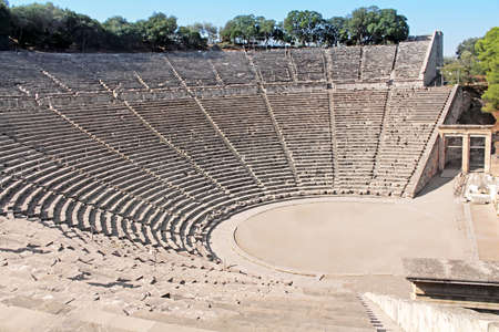 Ancient theatre of Epidaurus, Greece Stok Fotoğraf