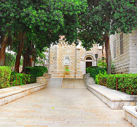 Entrance to Joseph Church in Nazareth, Israel