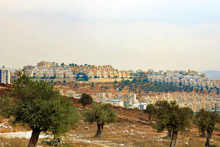 View of new buildings in the south of Jerusalem, Israel Stock Photo