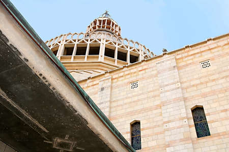 The dome of the Basilica of the Annunciation, Church of the Annunciation in Nazareth, Israel