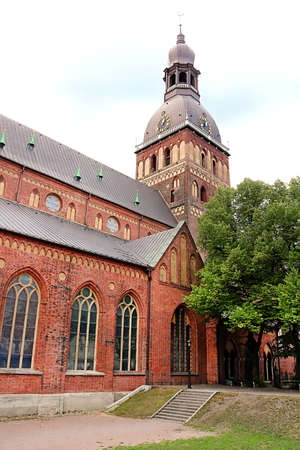 Riga Cathedral  is the Evangelical Lutheran cathedral in Riga, Latvia. It is the seat of the Archbishop of Riga Stok Fotoğraf