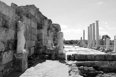 Ruines romaines de la ville de Salamine, près de Famagouste, Chypre du Nord