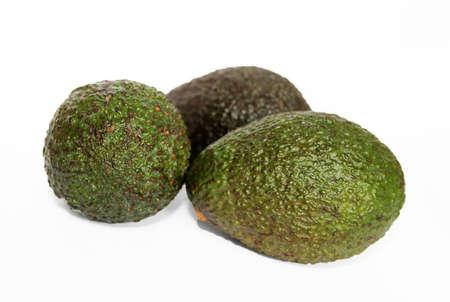 Haas avocado isolated on a white studio background, close up Zdjęcie Seryjne