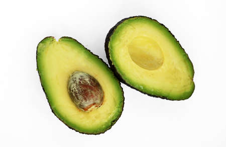 Haas avocado isolated on a white studio background, close up