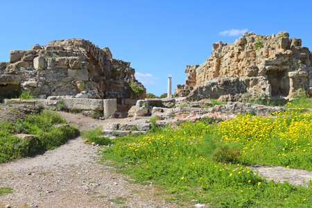 Romans ruins of the city of Salamis, near Famagusta, Northern Cyprus