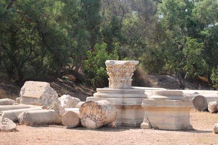 Roman ruins in the park, Ashkelon, Israel
