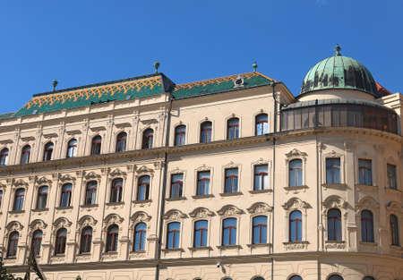 Top view of General Post Office building in Bratislava, Slovak Republic Stock Photo