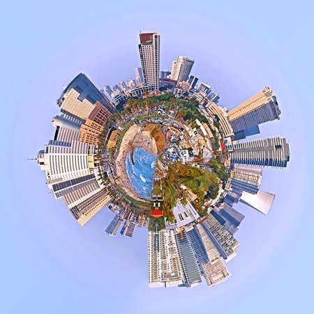 360 degree of cityscape and skyline of Tel Aviv, Israel
