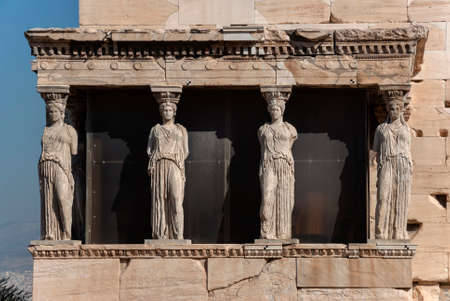 kareatids on the Athenian pantheon