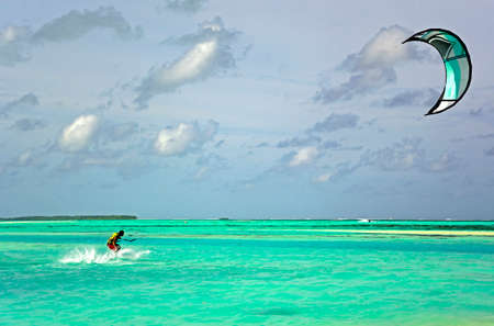 Great surfing on the waves in paradise