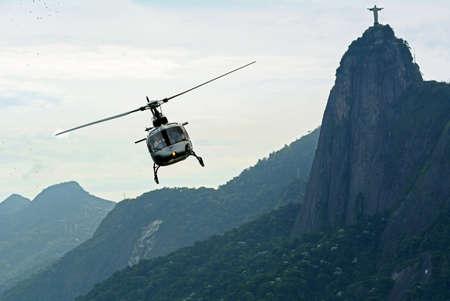 tourist helicopter flight over Rio de Janeiro