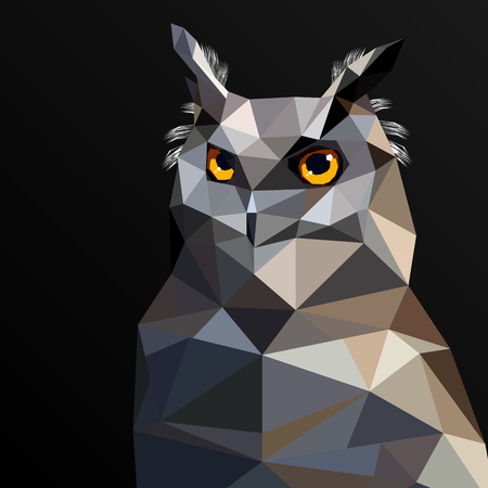 """wild life"": Low Poly Owl vector art from my Wild Life low poly series."