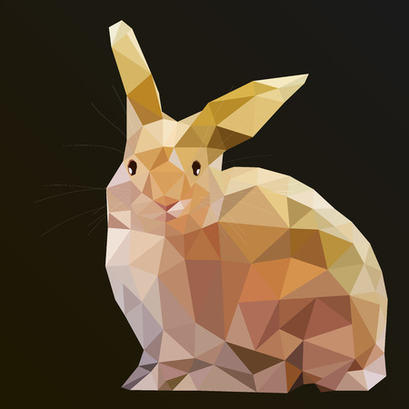 """wild life"": Low Poly Hare Rabbit vector art from my Wild Life low poly series. Illustration"
