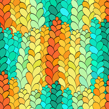 Seamless pattern in the form of colored rye. It looks like a stained glass window. Many colors, gradient, great for background or texture fabric. Illustration